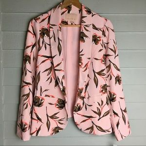 NWT Gibson Latimer Pink Floral Blazer